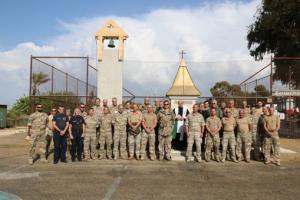 Segnung des Christophorus-Bildstockes und Glockenturms im Camp Naquora