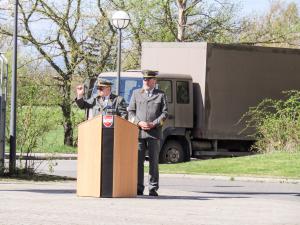 Kommandoübergabe beim Institut Artillerie und Segnung von Barbara Statue