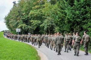 2. Blaulichtwallfahrt: 350 Wallfahrer pilgerten durch Niederösterreich.
