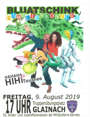 Familienkonzert der Gruppe Bluatschink am 9. August 2019