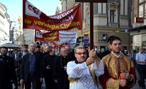 Wien: Schweigemarsch für verfolgte Christen mit Bischof Freistetter
